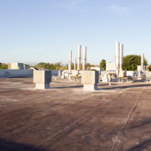 Il tetto prima dell'applicazione