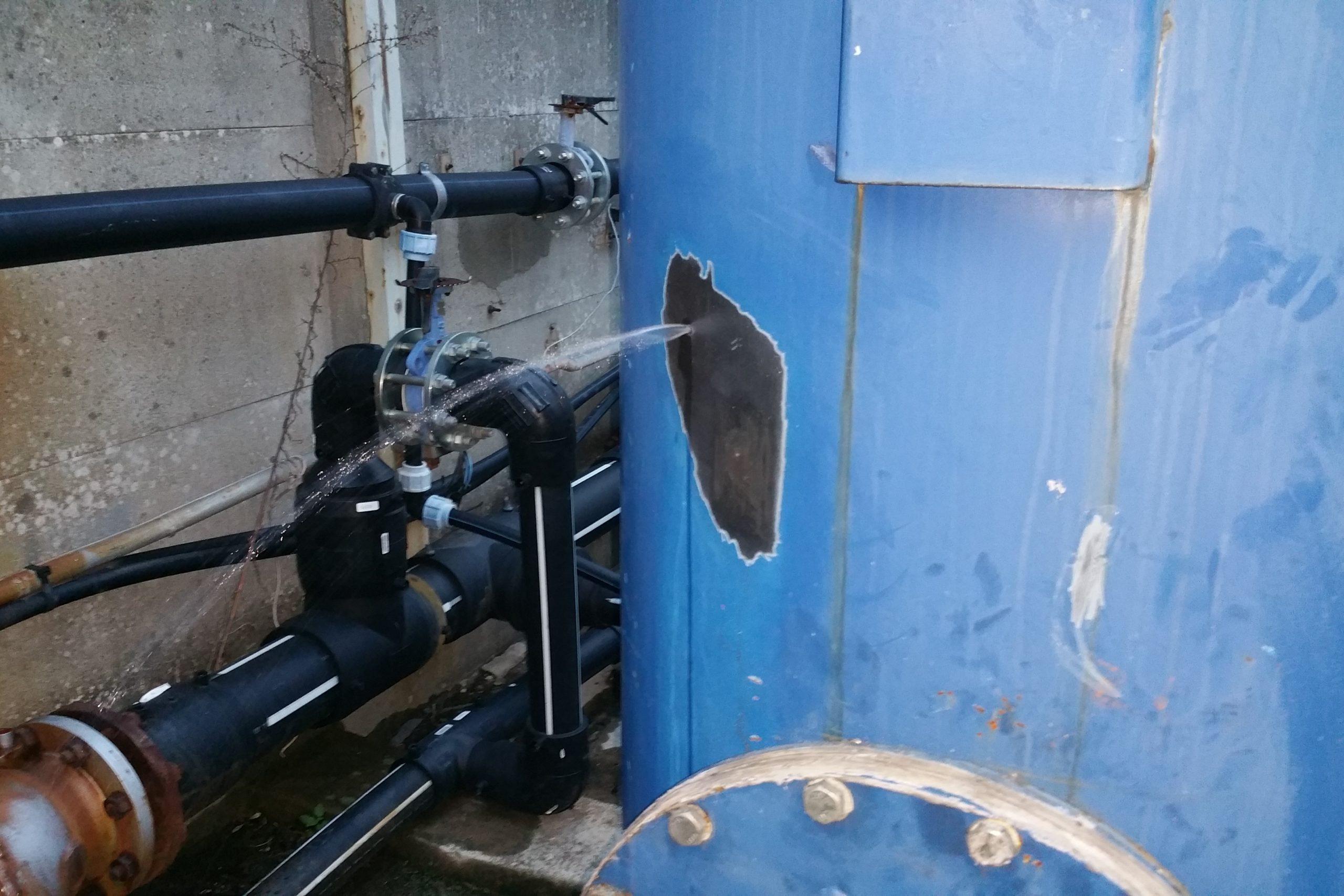 3. Perdita in atto serbatoio acqua