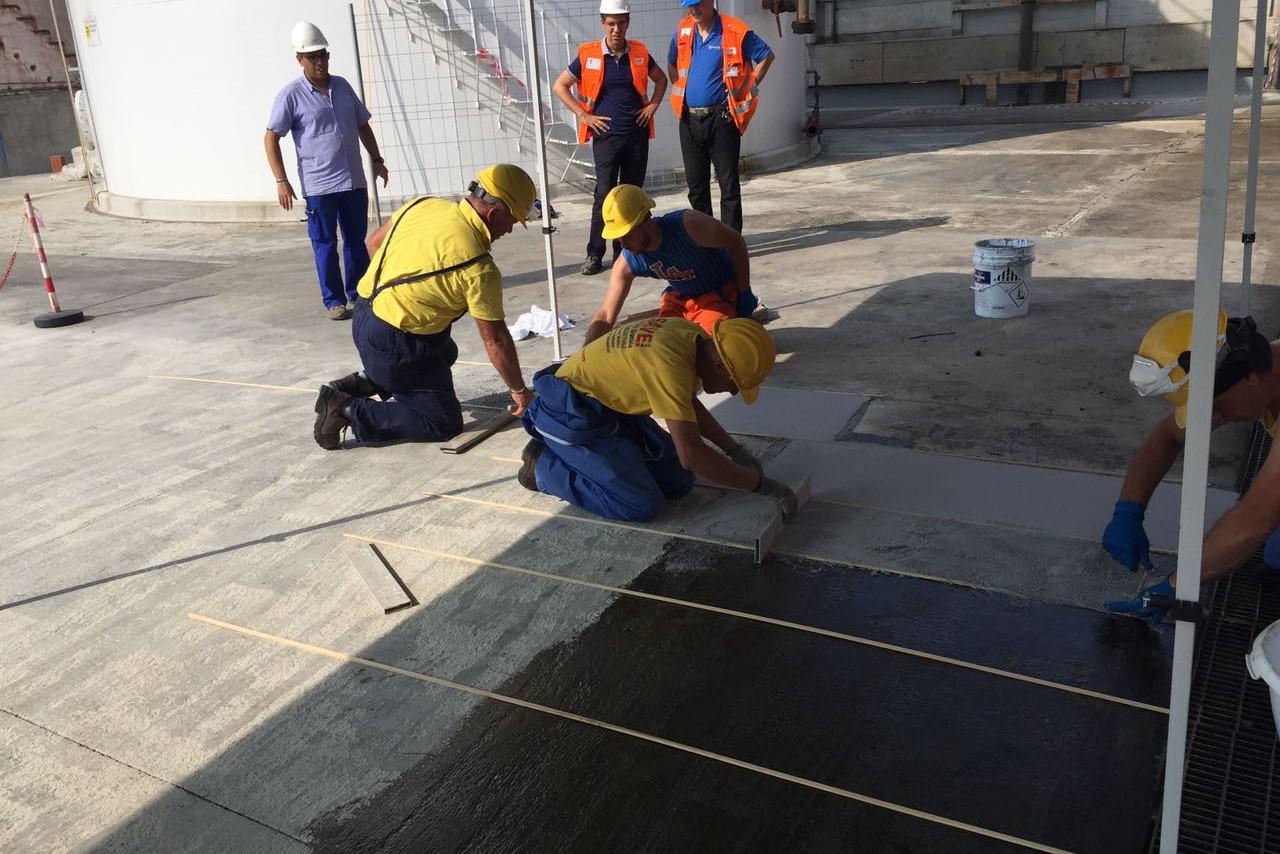 3. Ripristino pavimentazione industriale