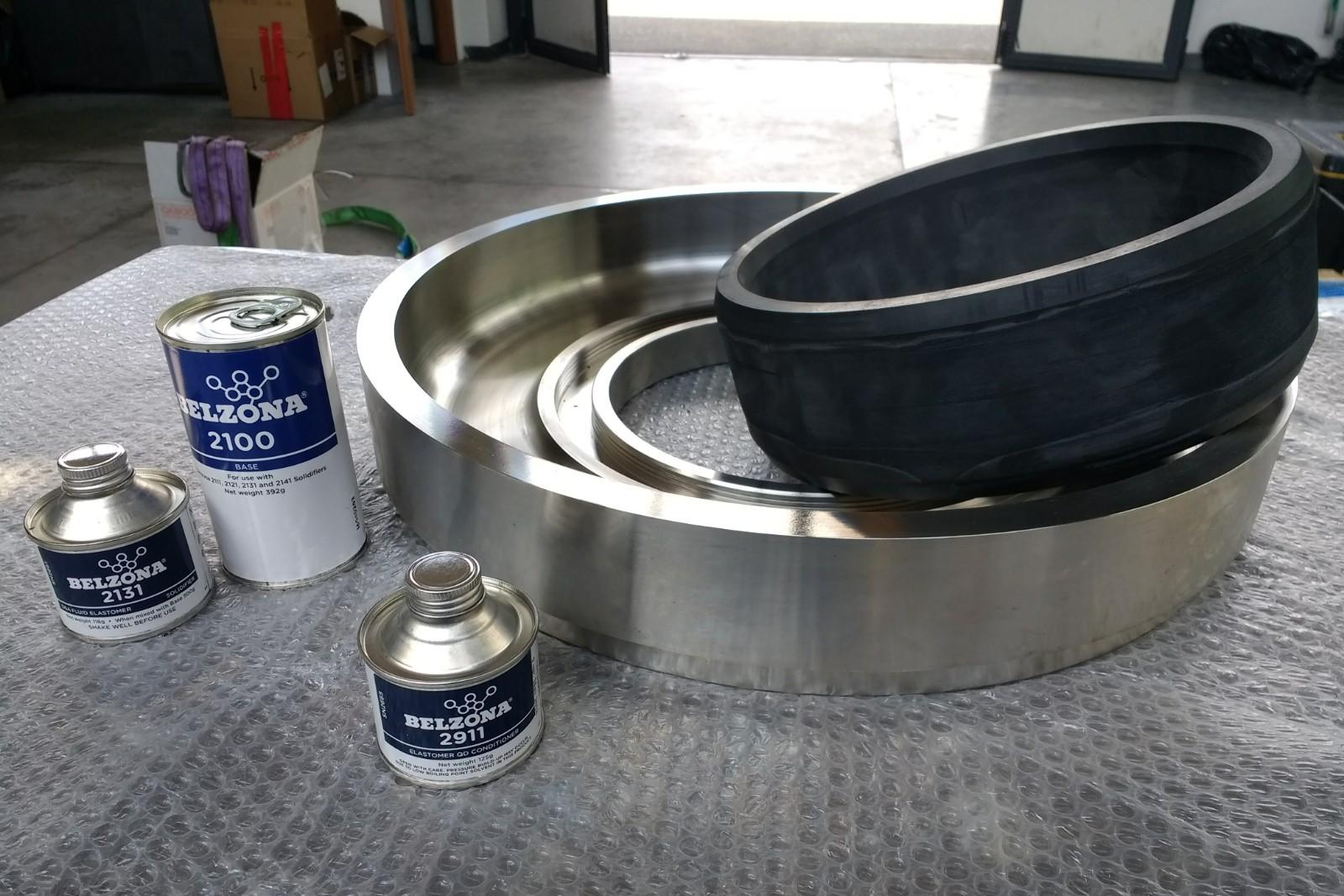 5. Incolaggio guarnizioni metallo-gomma