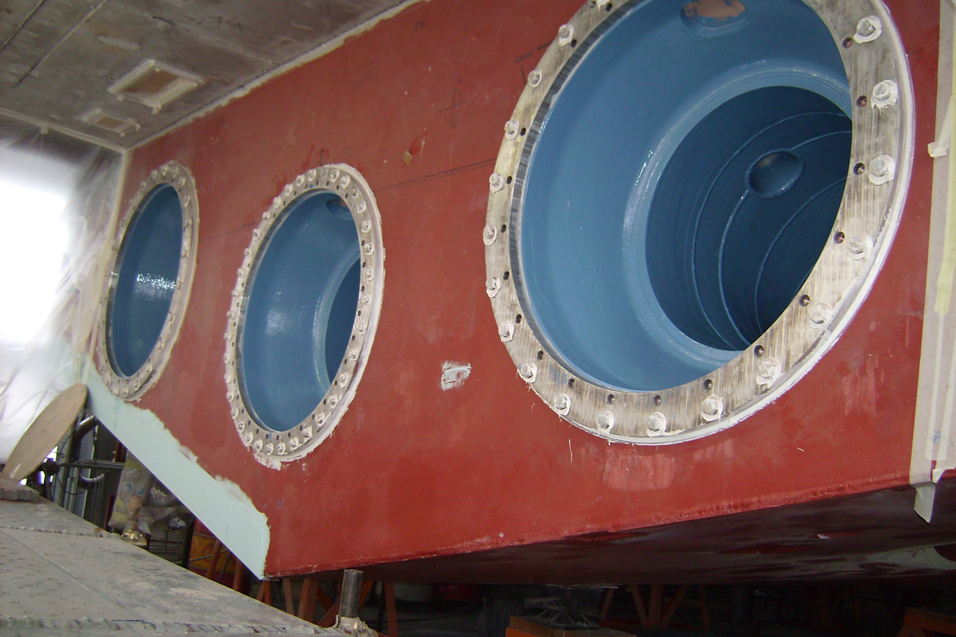 5. Rivestimento scoop idrogetti yacht