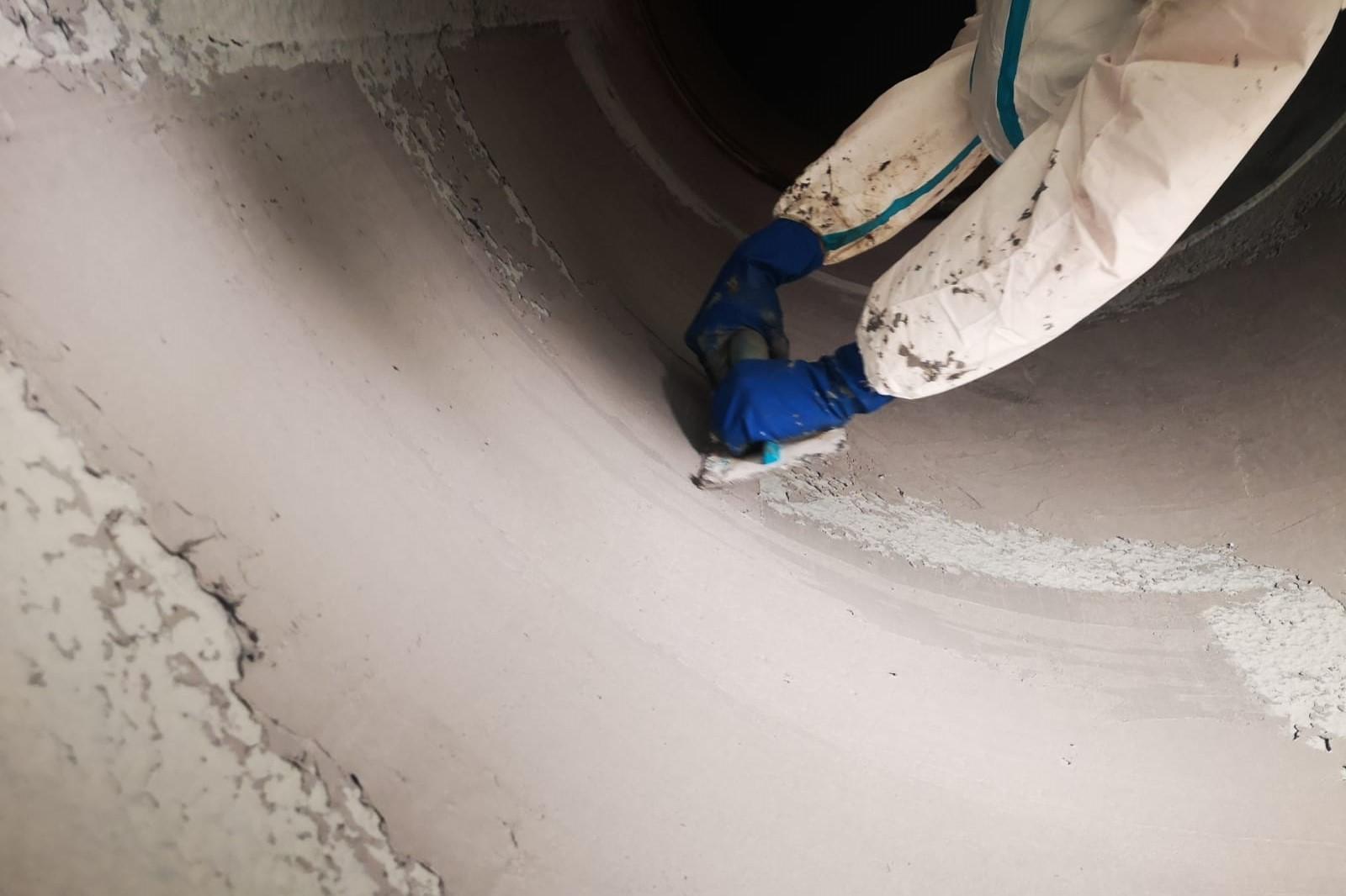 Belzona 1121 - Rasatura e ricostruzione condotta DN 1800