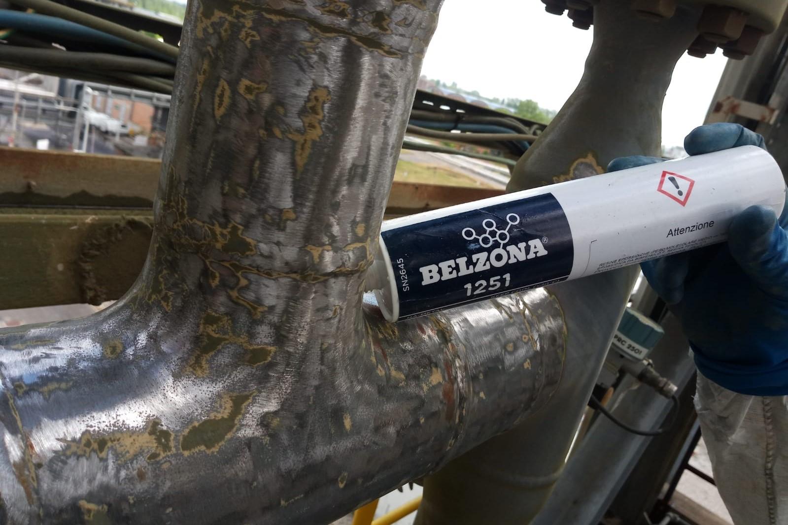 Belzona 1251 - Linea in esercizio e temperatura