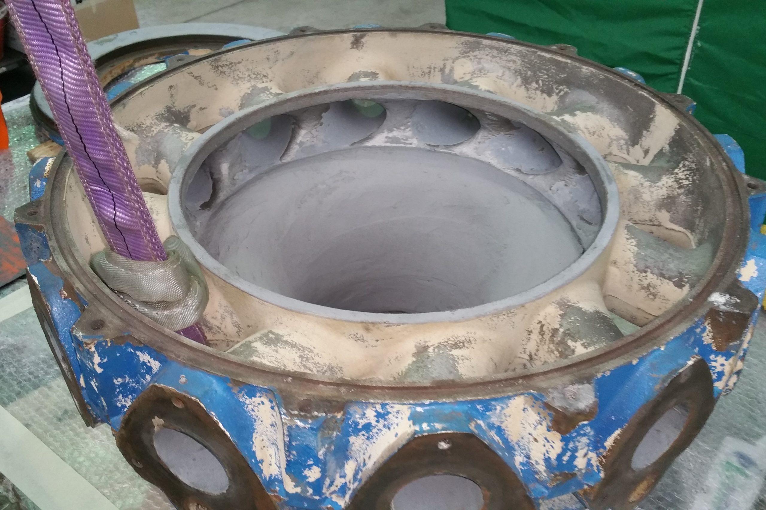 Belzona 1311 - Ricostruzione corpo pompa Ossimix 2